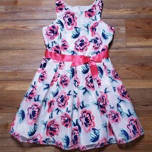 Zunie Girl's Dress Size 14 Floral Sleeveless